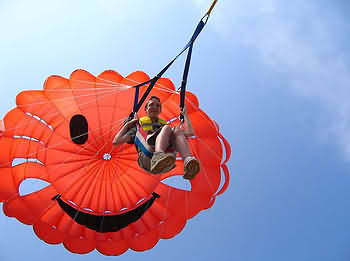 parasail in the air